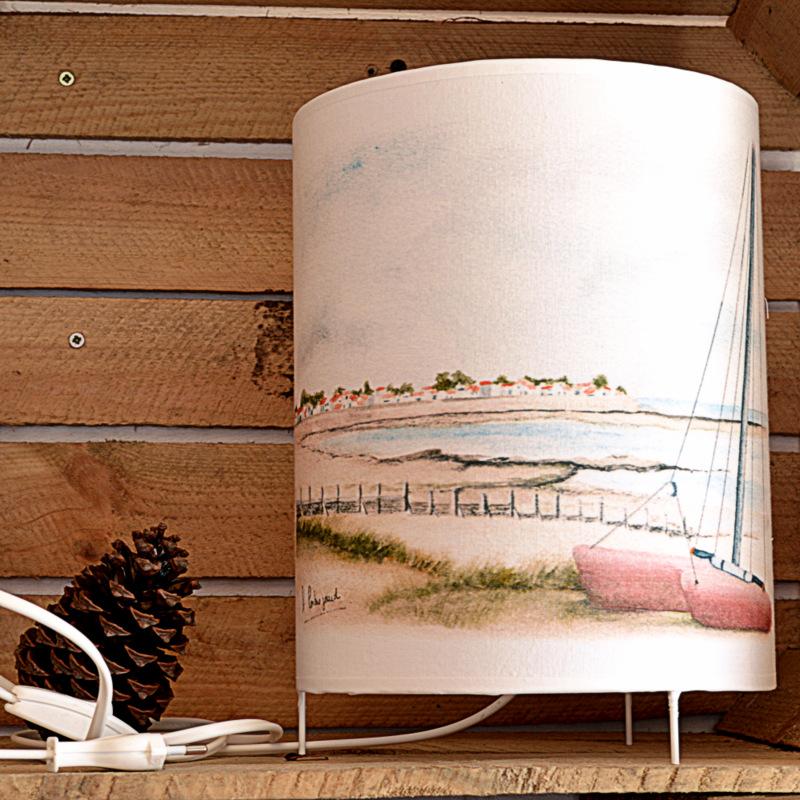 """lampe à poser """"catamaran sur la plage"""""""