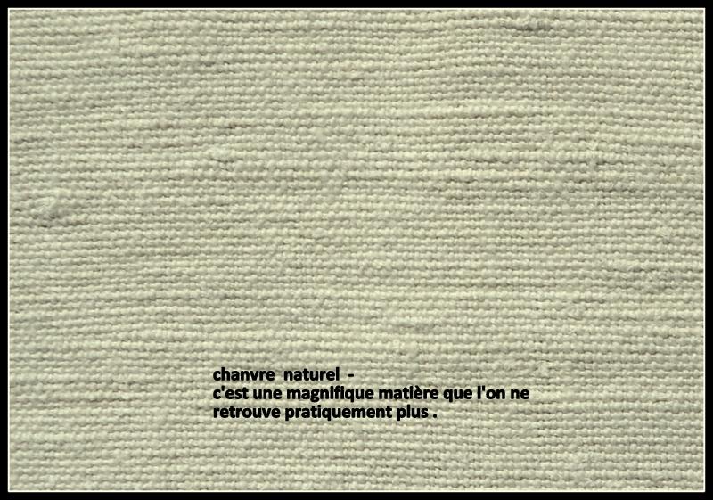 """Tissu de chanvre """" Un her d'Océan'"""