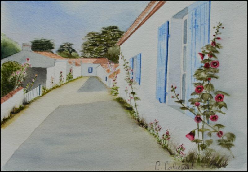 une ruelle en été - NOirmoutier