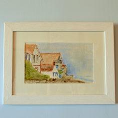 """Aquarelle """" le Vieil  -Noirmoutier"""""""