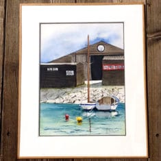 aquarelle représentant le port de Noirmoutier