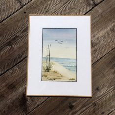 Vue sur la plage